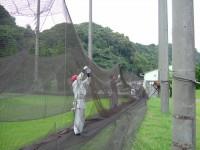 防球ネット補修工事 施工写真1