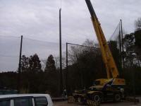 ゴルフ練習場防球ネット工事 施工写真2