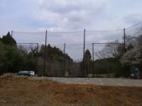ゴルフ練習場防球ネット工事 施工写真3