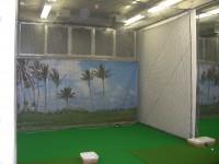 インドアゴルフ練習場防球ネット工事 施工写真3