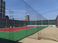 学校体育館屋上防球ネット 施工写真3