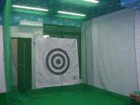 インドアゴルフ練習場防球ネット工事 施工写真2