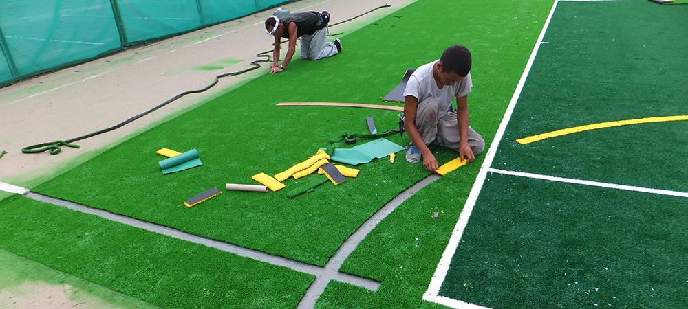 テニスコート人工芝工事