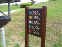 距離の説明板