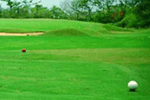 ゴルフ場の人工芝工事のイメージ