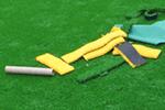 学校、スポーツ施設などの人工芝工事のイメージ