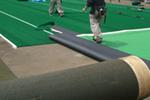 テニスコートの砂入り人工芝工事のイメージ