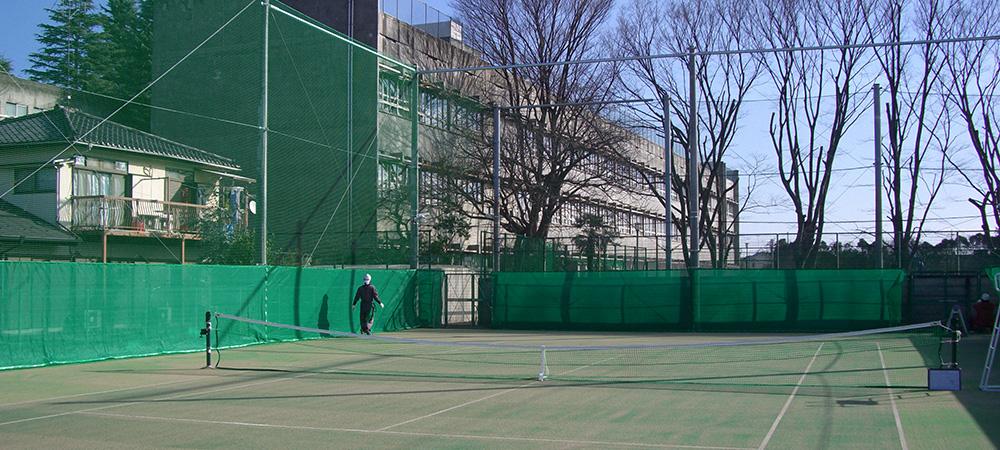 テニス外周ネット工事